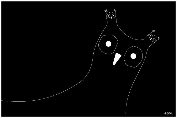 Ein OOVL-Comic von Vera Liesmann über Fraktale und Rekursion.