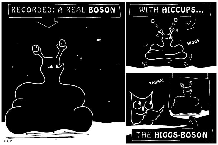 EIn OOVL-Comic von Vera Liesmann über das Higgs-Boson.