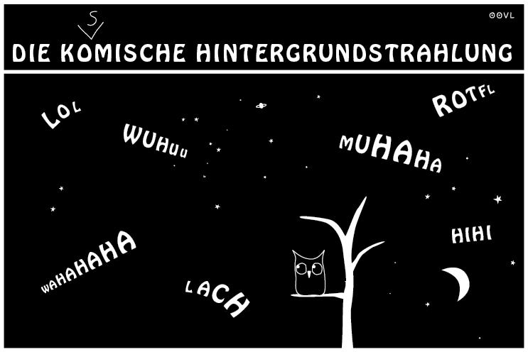 Ein OOVL-Comic von Vera Liesmann über die kosmische Hintergrundstrahlung