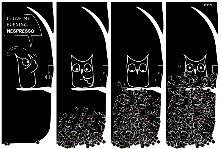 Ein OOVL-Comic von Vera Liesmann über Umweltverschmutzung.
