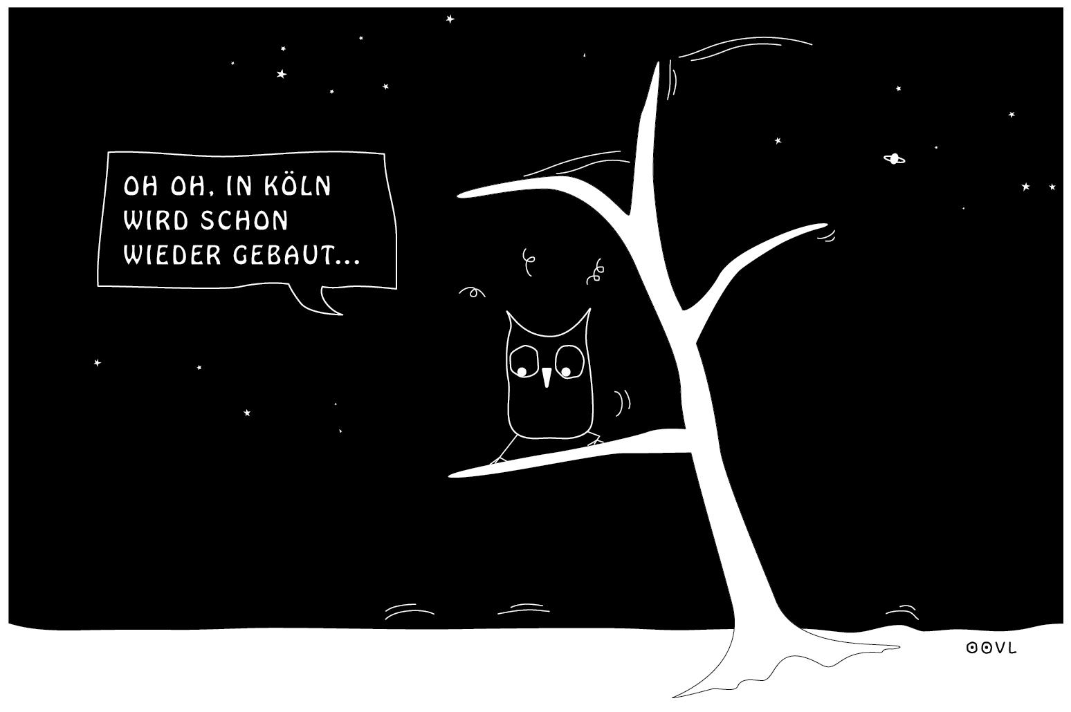 Ein OOVL-Comic von Vera Lesmann über das Bauen in Köln.