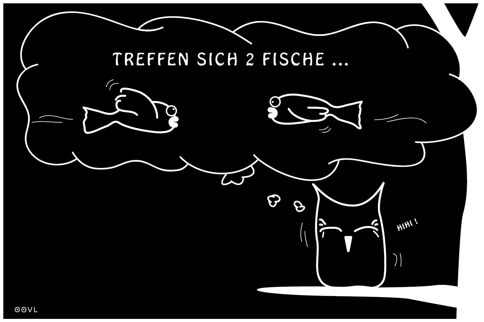Ein OOVL-Comic von Vera Liesmann über alte Antiwitze.