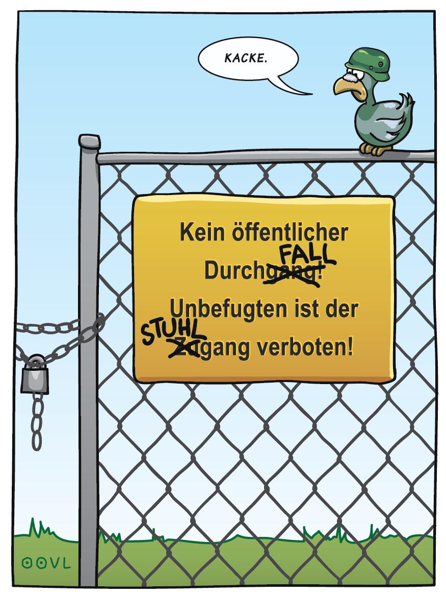 Ein OOVL-Cartoon von Vera Liesmann über Alltägliches.