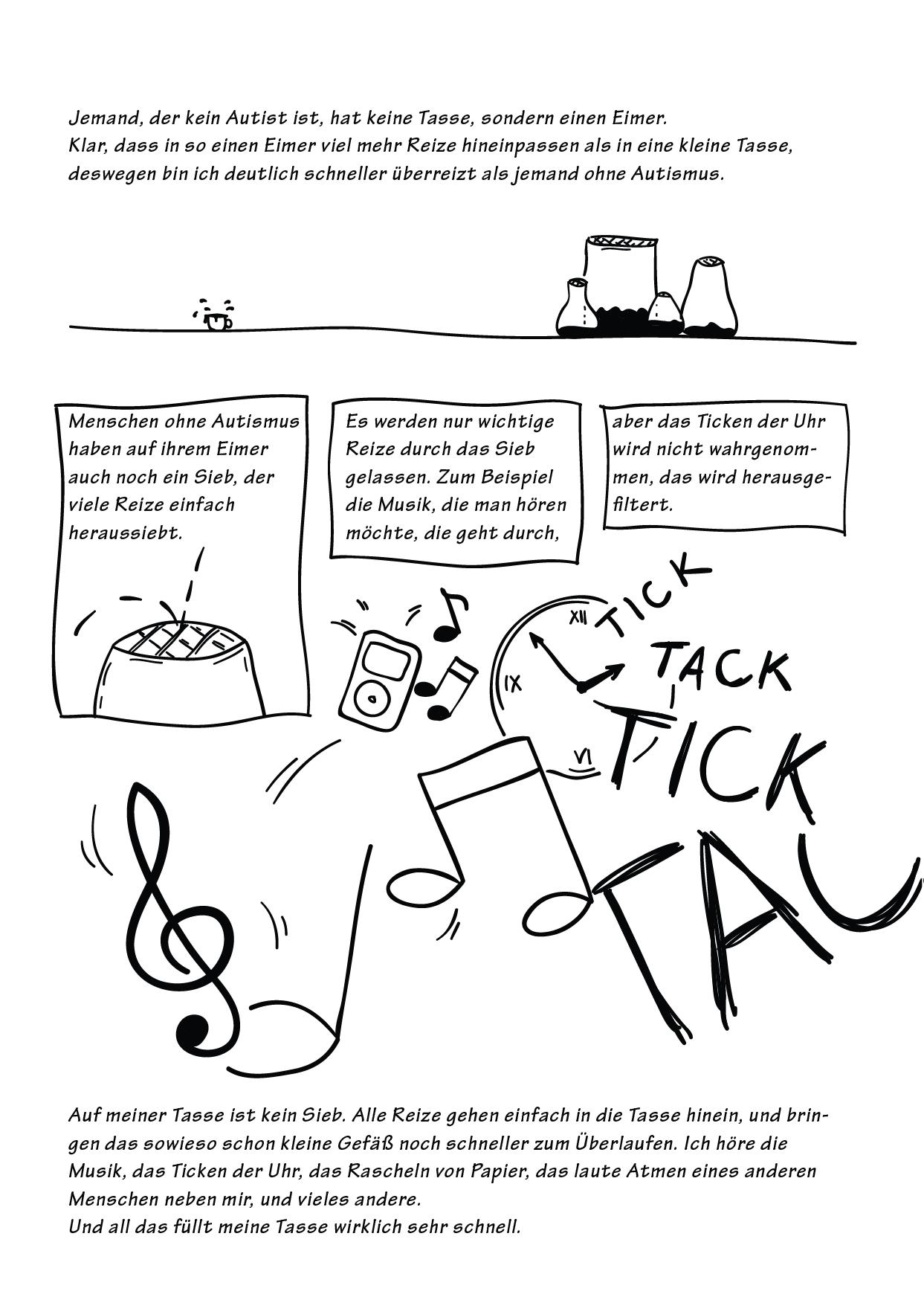 Ein EULALIA THE OOVL Comic von Vera Liesmann über Asperger-Autismus.