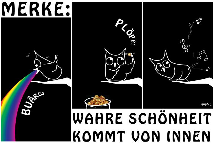 Ein EULALIA THE OOVL Comic von Vera Liesmann über die wahre innere Schoenheit.