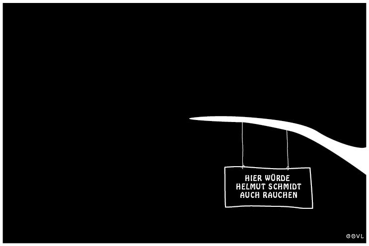 Ein EULALIA THE OOVL Kondolenz-Comic von Vera Liesmann zum Tod von Altkanzler Helmut Schmidt.