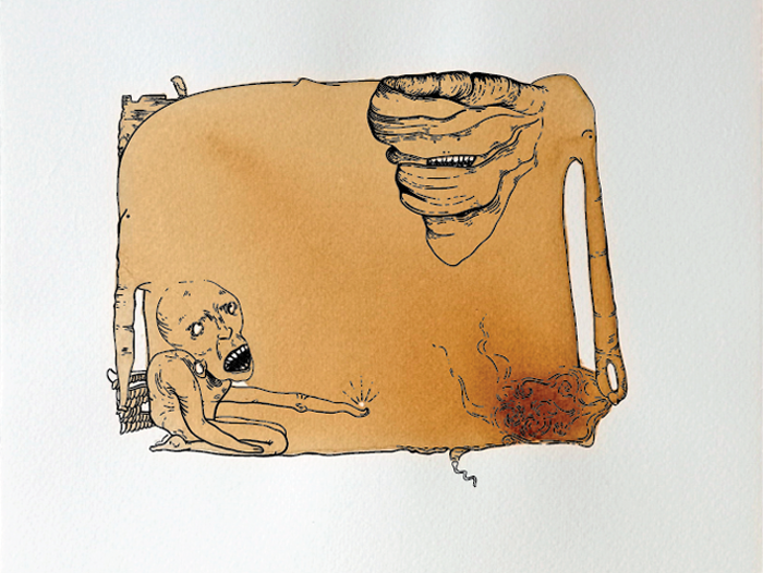 Ein Coffeemonster von Vera Liesmann.
