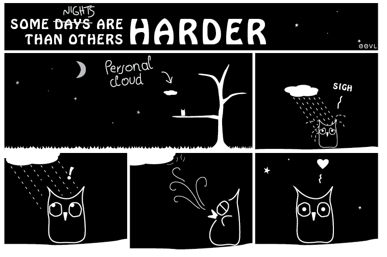 Ein OOVL-Comic von Vera Liesmann über gute und schlechte Tage.